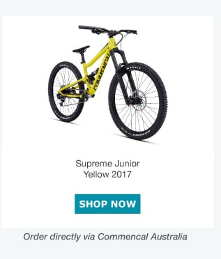 commencal supreme junior yellow 2017
