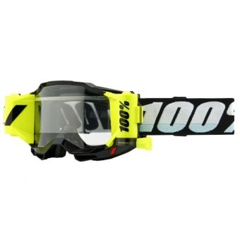 100% Accuri 2 Goggles Forecast Black/Yellow (Clear Lens)