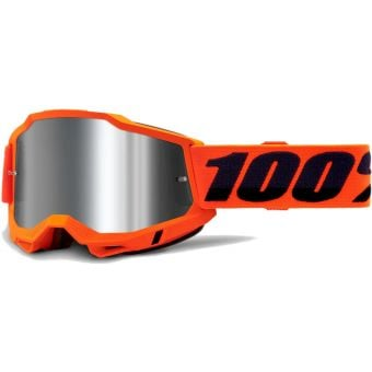 100% Accuri 2 MTB Goggles Orange/Mirror Silver Lens