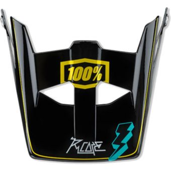 100% Aircraft Replacement Visor R-Core Teal