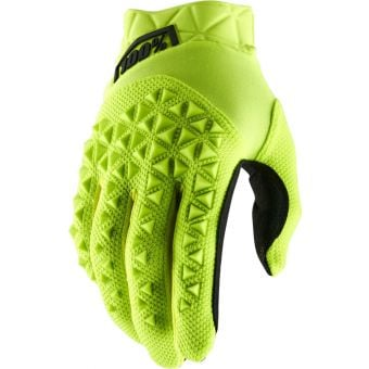 100% Airmatic Gloves Fluro Yellow/Black Youth 2021