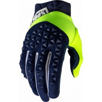 100% Airmatic Gloves Navy/Fluo Yellow 2020