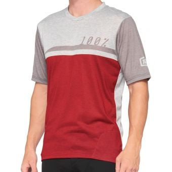 100% Airmatic SS Jersey Cherry Red/Grey 2021
