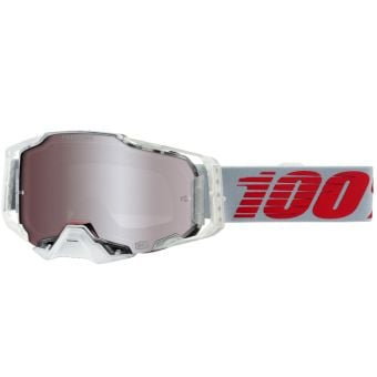 100% Armega Goggles X-Ray HiPER White/Red (Mirror Silver Lens)