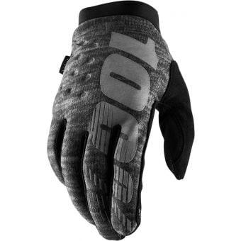 100% Brisker Full Finger Gloves Grey Heather