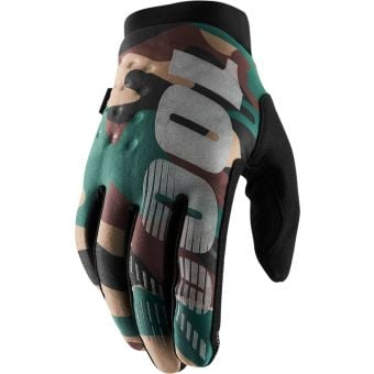 100% Brisker Gloves Camo/Black 2020