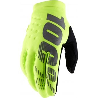100% Brisker Gloves Fluo Yellow 2020