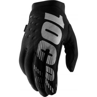 100% Brisker Women's Gloves Black/Grey 2019