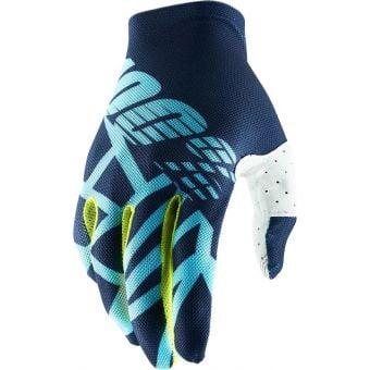 100% Celium 2 Gloves Navy/Ice Blue/Fluo Lime 2020