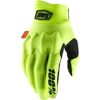 100% Cognito D30 Gloves Fluo Yellow/Black 2020
