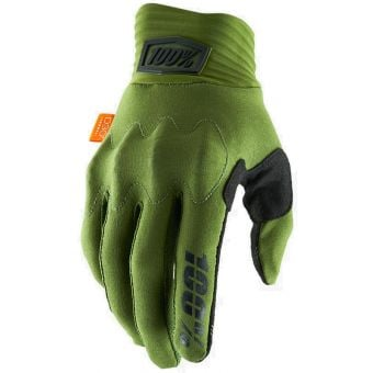 100% Cognito Full Finger Gloves Army Green