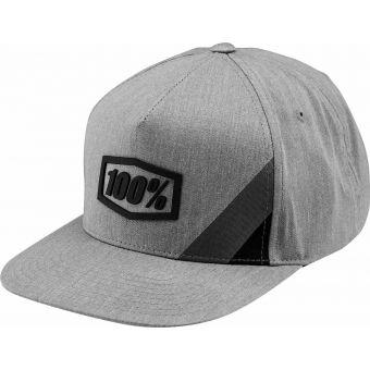 100% Cornerstone Trucker Hat Grey Heather