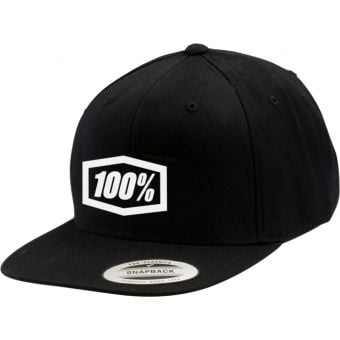 100% Corpo Classic Youth Snapback Hat Black/White
