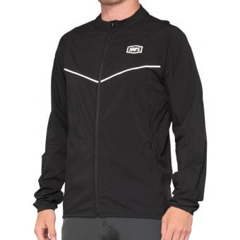 100% Corridor Stretch Windbreaker Jacket Black 2021