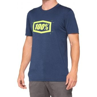 100% Cropped Tech Tee Navy 2021