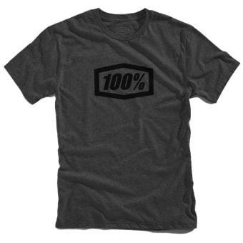 100% Essential T-Shirt Charcoal/Black 2021