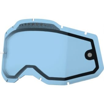 100% RC2/AC2/ST2 Replacement Lens Vented Dual Blue