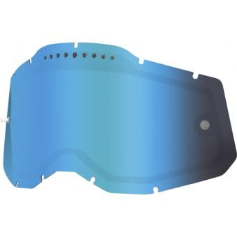 100% RC2/AC2/ST2 Replacement Lens Vented Dual Mirror Blue