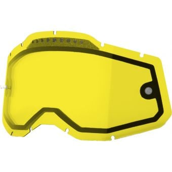 100% RC2/AC2/ST2 Replacement Lens Vented Dual Yellow