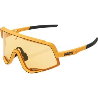 100% Glendale Sunglasses Soft Tact Mustard/Yellow Lens