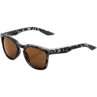 100% Hudson Sunglasses Matte Black Havana (Bronze Lens)
