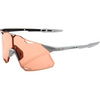 100% Hypercraft Sunglasses Matte Stone Grey (Hiper Coral Lens)