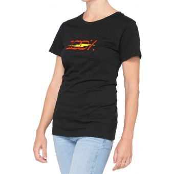 100% Joshua Womens Crewneck T-Shirt Black 2021