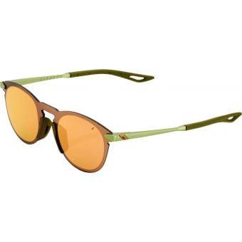 100% Legere Round Sunglasses Matte Metallic Viperida (Bronze Multilayer Mirror Lens)