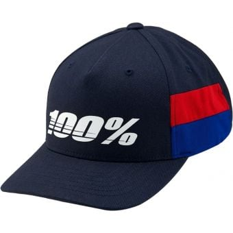 100% Loyal Youth Snapback Cap Navy/Red Unisize