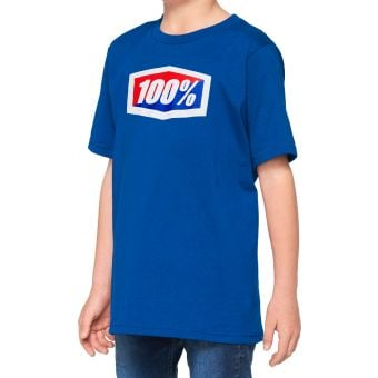 100% Official Youth T-Shirt Blue 2021