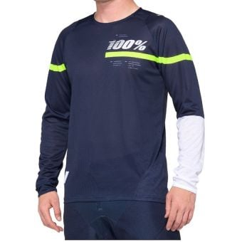 100% R-Core Jersey Dark Blue/Yellow 2020