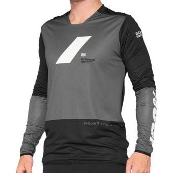 100% R-Core X LS Jersey Charcoal/Black 2021