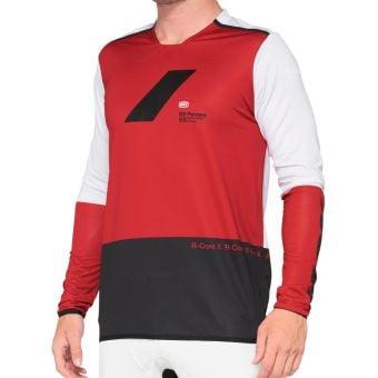 100% R-Core X LS Jersey Cherry Red/Black 2021