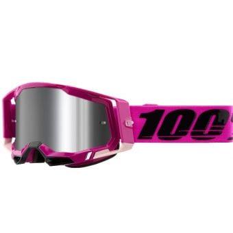 100% Racecraft 2 Goggles Maho Pink/Black (Mirror Silver Flash Lens)