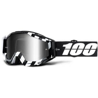 100% Racecraft Goggles Alta (Silver Mirror Lens)