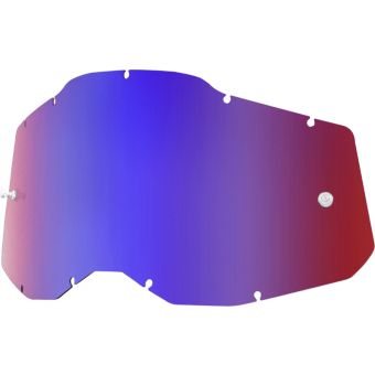 100% RC2/AC2/ST2 Replacement Lens Mirror Red/Blue