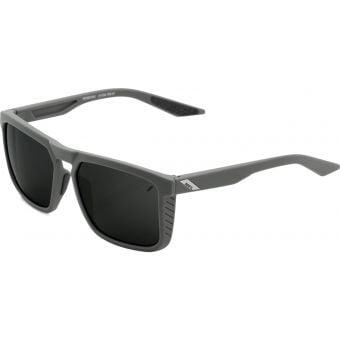 100% Renshaw Sunglasses Soft Tact Cool Grey (Black Mirror Lens)