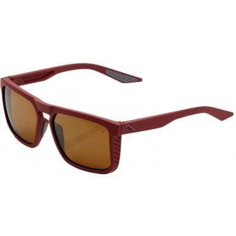 100% Renshaw Sunglasses Soft Tact Crimson (Bronze Lens)