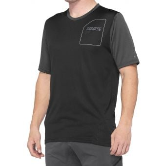 100% Ridecamp Jersey Charcoal/Black 2021