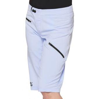100% Ridecamp Womens MTB Shorts Pale Blue 2021