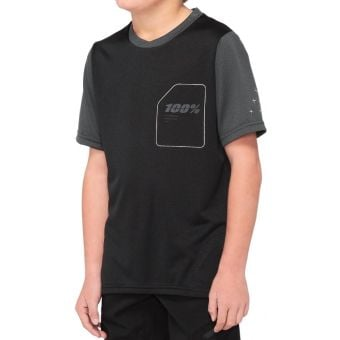 100% Ridecamp Youth Jersey Black/Charcoal 2020