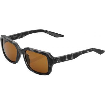 100% Rideley Sunglasses Matte Black Havana 2021 (Bronze PEAKPOLAR Lens)
