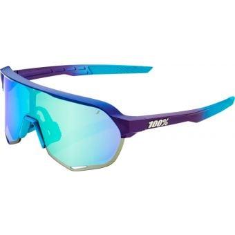 100% S2 Sunglasses Matte Metallic Into the Fade 2021 (Blue Topaz Multilayer Mirror Lens)