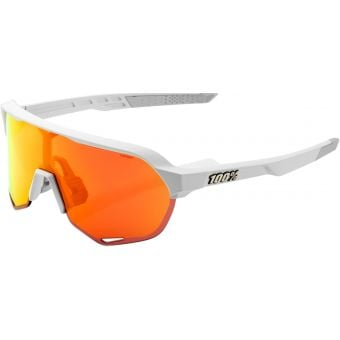 100% S2 Sunglasses Soft Tact Off White 2021 (HiPER Red Multilayer Mirror Lens)