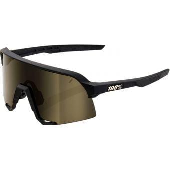 100% S3 Sunglasses Soft Tact Black/Gold Lens