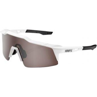 100% Speedcraft SL Sunglasses Matte White 2021 (HiPER Silver Mirror Lens)