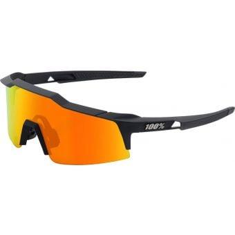 100% Speedcraft SL Sunglasses Soft Tact Black/HiPER Red Multilayer Mirror Lens