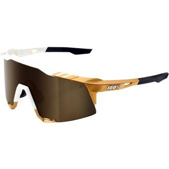 100% Speedcraft Sunglasses Peter Sagan LE White Gold/Mirror Lens