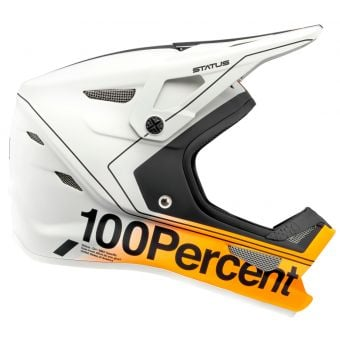 100% Status Full Face Helmet Carby/Silver