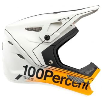 100% Status Youth Full Face Helmet Carby/Silver